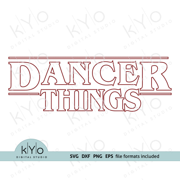 Dancer Things Outline shirt design svg png dxf eps files