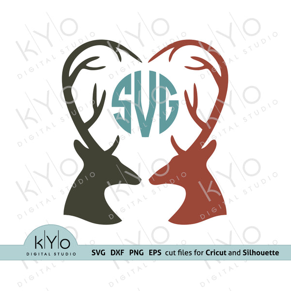 Deer Antler Monogram Svg cut files