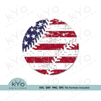 Distressed American flag Baseball shirt design svg by kYoDigitalStudio