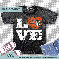 Distressed Basketball Love svg