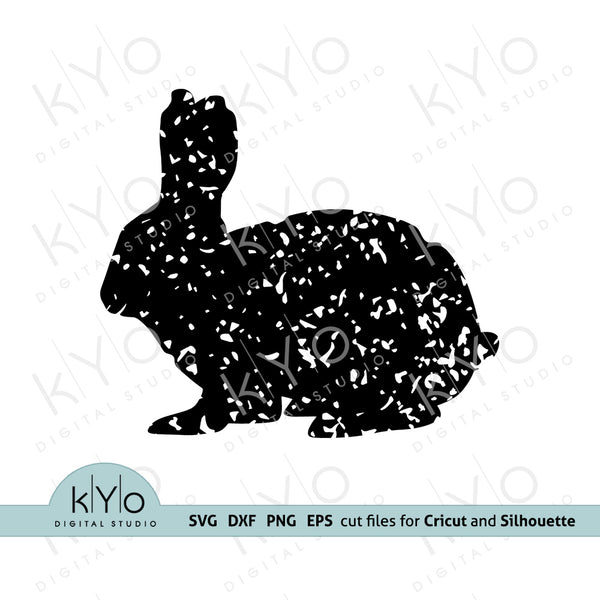 Distressed Bunny Svg Png Dxf Eps shirt design files