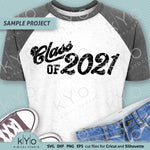 Class Of 2021 Distressed Graduation Shirt Design Svg