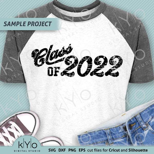 Class Of 2022 Distressed Graduation Shirt Design Svg