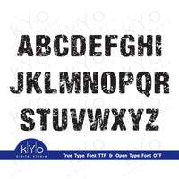 Distressed Font Capital Letters, Grunge font by Kyo Digital Studio