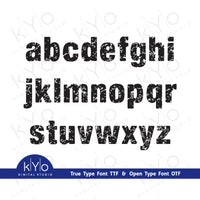 Distressed Font Small Letters by Kyo Digital Studio