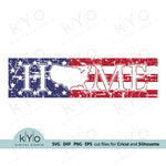 Distressed American Home Sign US Map Svg Png Dxf Eps Files, Distressed Patriotic Porch Home Sign Svg