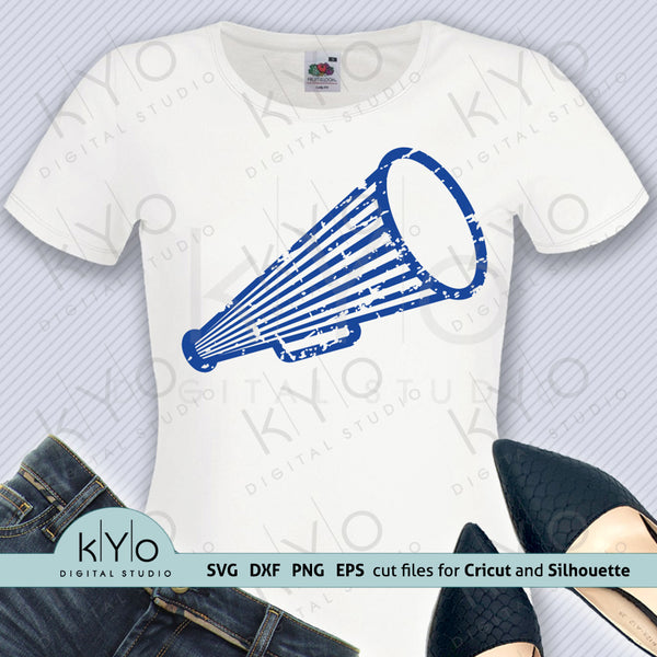 Distressed Megaphone Shirt Design Svg Png Dxf Files