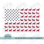 Labrador silhouette American flag svg files-kYoDigitalStudio