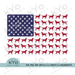 Labrador Dog Silhouette US flag svg files-kYoDigitalStudio