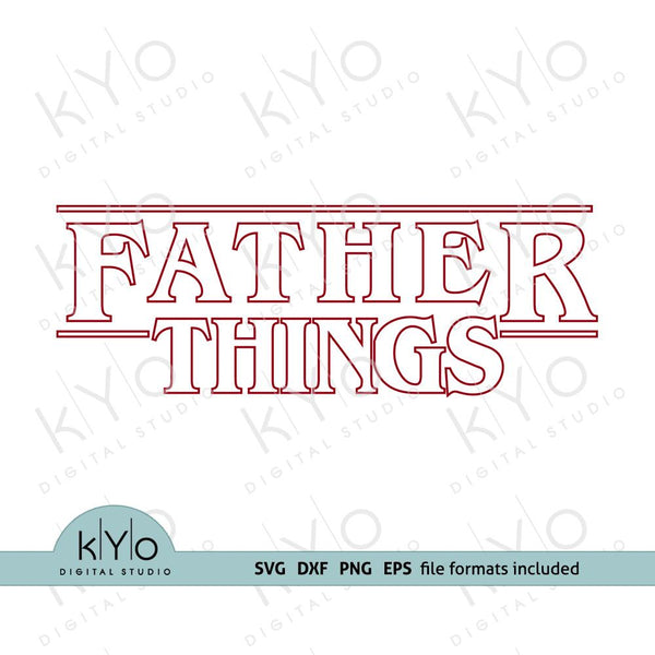 Fathers Day Stranger Things Dad Shirt Design Svg Png Dxf Eps files-kYoDigitalStudio
