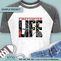 Firefighter Life Svg Png Dxf Cut files