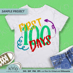 First 100 days Svg Png Dxf Cut Files