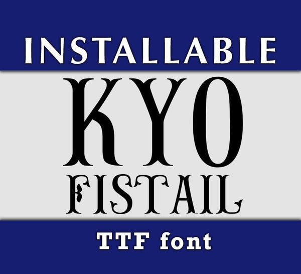 Fishtail True Type Monogram Font-kYoDigitalStudio