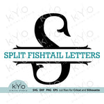 Fishtail Split Monogram Letters Svg cut files by kyo digital studio