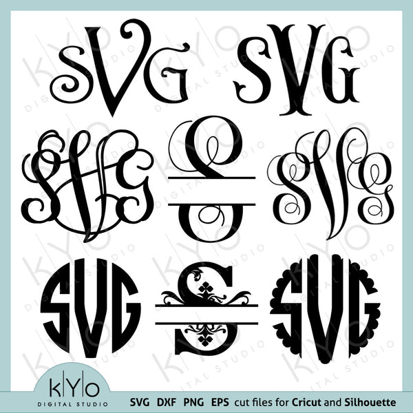 Fonts for Cricut svg files Font svg files Cricut Monogram Font Bundle svg Cricut design space Silhouette Studio font download svg