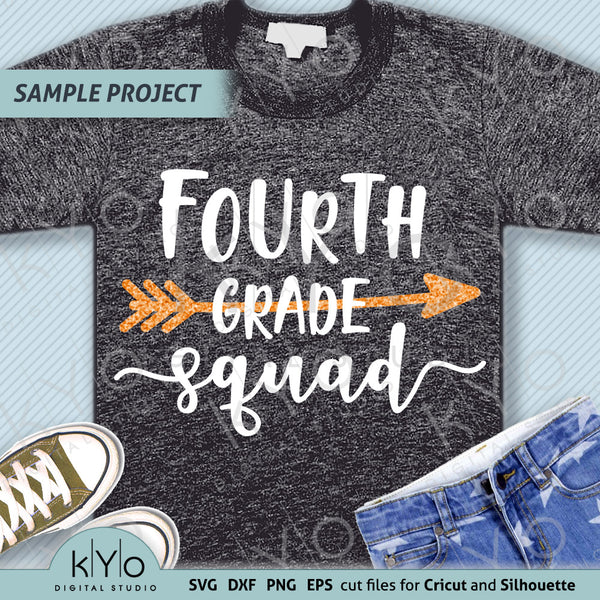 Fourth Grade Squad Shirt Design Svg Png Dxf Files