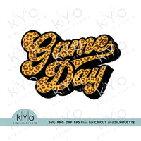 Cheetah Leopard Print Game day shirt design svg png dxf eps files-kYoDigitalStudio