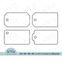 Product Gift Tag Templates Svg Cut Files