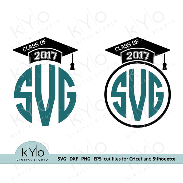 Graduation Mortarboard Class of 2017 Design Svg Png Dxf files