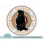 Happy Groundhog Day Svg Cut Files by kyo Digital Studio