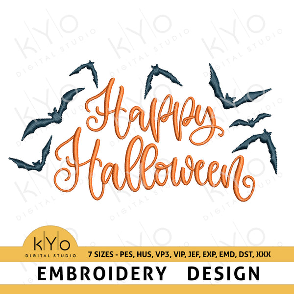 Happy Halloween Embroidery Design - kyodigitalstudio