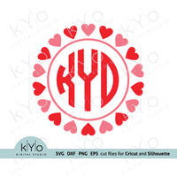 Valentines day svg, Valentines Day Monogram Svg, Heart monogram svg, Love svg, Wedding svg, Heart Monogram Png, Svg for Cricut and Silhouette files