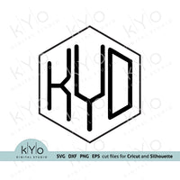 Hexagon Monogram Font Svg Cut Files for Cricut and Silhouette Crafts