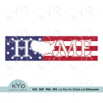 American Home Sign USA Map Svg Png Dxf Eps Files, Patriotic Home Sign svg
