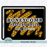 Honeycomb Procreate Brush Special shading black