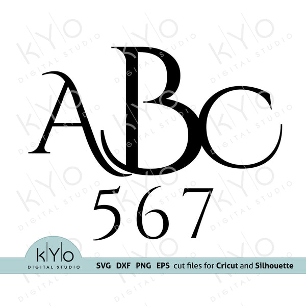 Initial Monogram Font Letters SVG Cut Files for Cricut and Silhouette V3