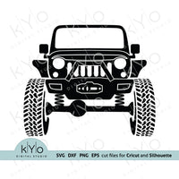 Lifted Offroad Jeep svg cutting files