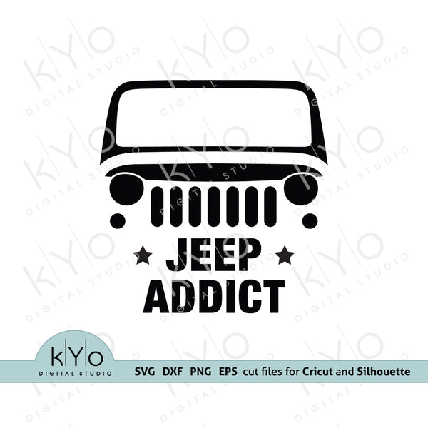 Wrangler Jeep Addict svg, American jeep silhouette svg, Jeep Wrangler shirt design svg, Off road 4x4 svg files for Cricut Silhouette dxf cut files