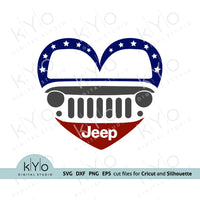 Jeep Love svg, Jeep Girl svg, Printable Jeep Silhouette png Clipart, Jeep in Heart svg, Heart Jeep Wrangler svg, Off road svg, 4x4 svg cut files for Cricut Design space and Silhouette Studio