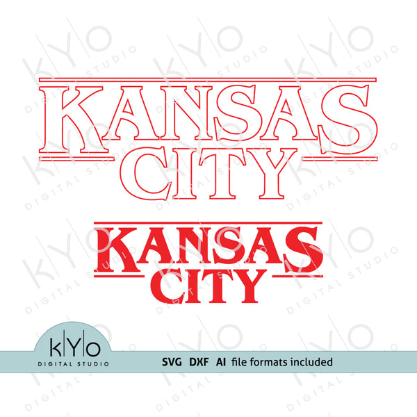 Kansas City Svg, Stranger Things Logo Inspired Design Svg Png Dxf Eps files