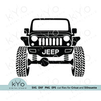 Jeep svg, Lifted Jeep Silhouette svg, Jeep Wrangler shirt design, Off road 4x4 svg files for Cricut and Silhouette, DIY Jeep Shirt design.
