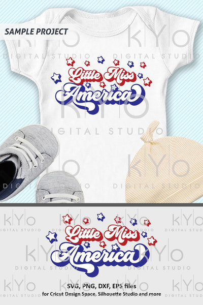 Little Miss America svg files for Cricut and Silhouette-kYoDigitalStudio