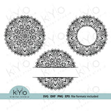 Mandala svg files, Mandala monogram svg bundle - kYoDigitalStudio