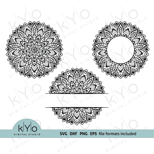 Mandala svg files monogram bundle-kYoDigitalStudio
