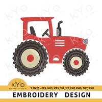 Modern Farm Tractor Embroidery design pes hus vp3 vip jef exp emd dst, Farm embroidery