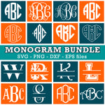 Monogram Fonts Svg Bundle, Monogram Fonts, Monogram Letters Svg - kyodigitalstudio.com