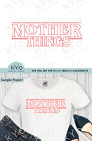 Stranger Things Logo inspired Mom shirt design svg png dxf eps files