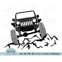 Lifted Jeep Svg | Offroad Adventure shirt design