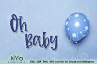 Oh Baby Svg Cut Files, Printable Jpg baby boy Card 05