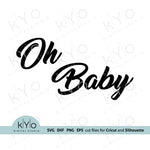 Oh Baby Svg, Gender reveal party Svg, Printable Baby Shower Card Jpg files, Png Clip Art, Laser cut files, Svgs for Cricut and Silhouette DIY craft projects. Card 01