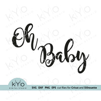 Oh Baby Svg, Gender reveal party Svg, Printable Baby Shower Card Jpg files, Png Clip Art, Laser cut files, Svgs for Cricut and Silhouette DIY craft projects. Card 02