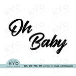 Oh Baby Svg, Gender reveal party Svg, Printable Baby Shower Card Jpg files, Png Clip Art, Laser cut files, Svgs for Cricut and Silhouette DIY craft projects. Card 03