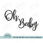 Oh Baby Svg, Gender reveal party Svg, Printable Baby Shower Card Jpg files, Png Clip Art, Laser cut files, Svgs for Cricut and Silhouette DIY craft projects. Card 04