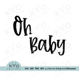 Oh Baby Svg, Gender reveal party Svg, Printable Baby Shower Card Jpg files, Png Clip Art, Laser cut files, Svgs for Cricut and Silhouette DIY craft projects. Card 05