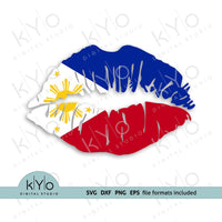 Philippines Flag Lips SVG PNG DXF EPS Files - kYoDigitalStudio