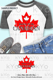 Proud to be Canadian Canada Day shirt design svg png dxf eps files-kYoDigitalStudio